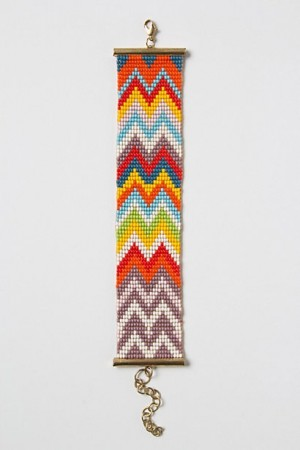 Zig-Zagged bracelet from anthropologie