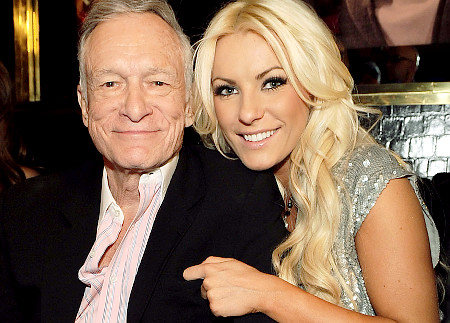 Crystal Harris and Playboy's Hugh Hefner