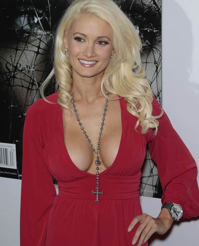 Holly Madison in Red