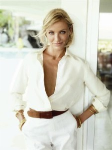 white on white (photo courtesy of dailycrushes.blogspot.com) Cameron Diaz