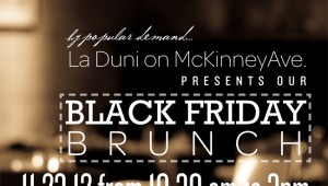 La Duni black friday brunch