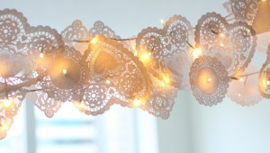 christmas lights doily