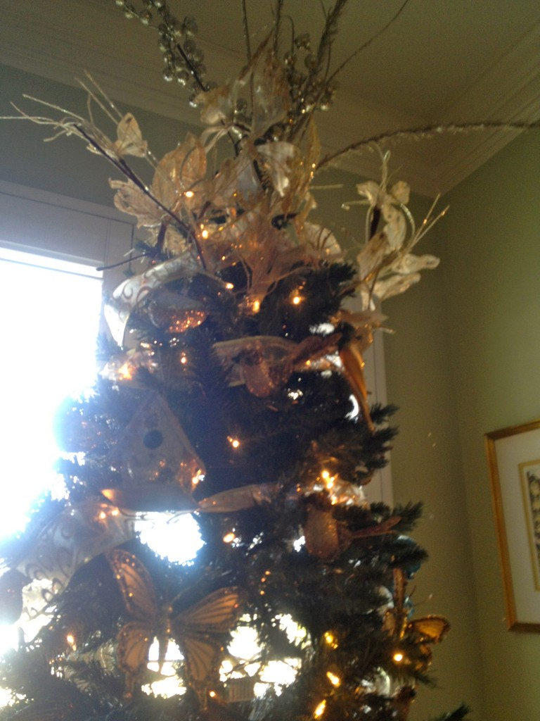 butterfly and bird christmas tree
