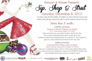 Krimson & Klover Presents- Sip, Shop & Strut