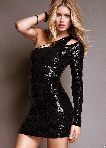Victoria's Secret One Shoulder Sequin Dress
