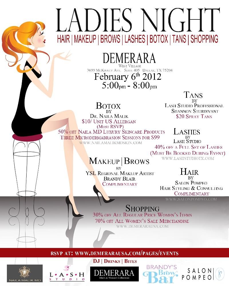 demerara ladies' night