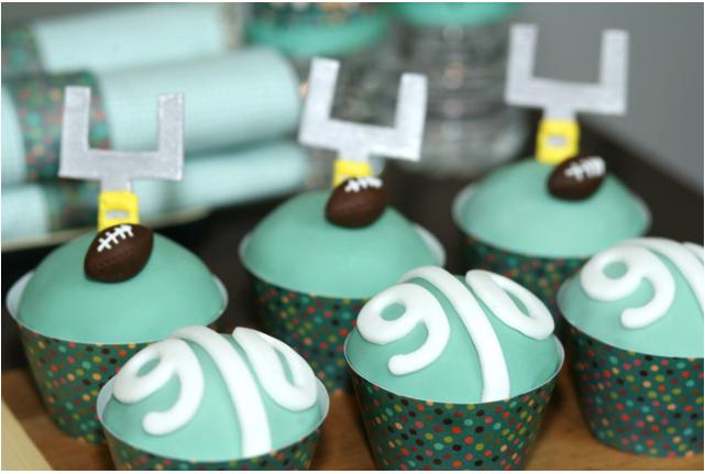 gameday cupcakes