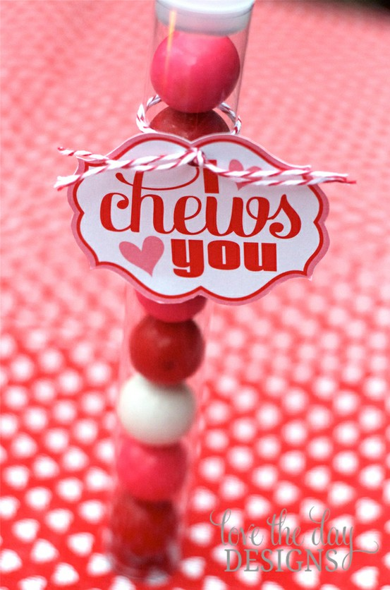 i chews you valentine gumballs