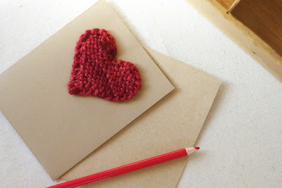 knitted heart valentine