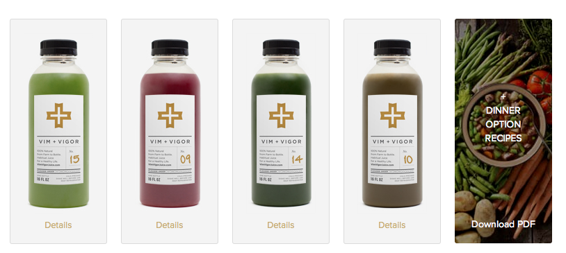 vim + vigor juice cleanse