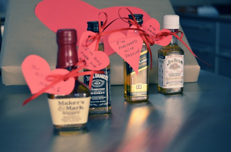 diy liquor and hearts valentine